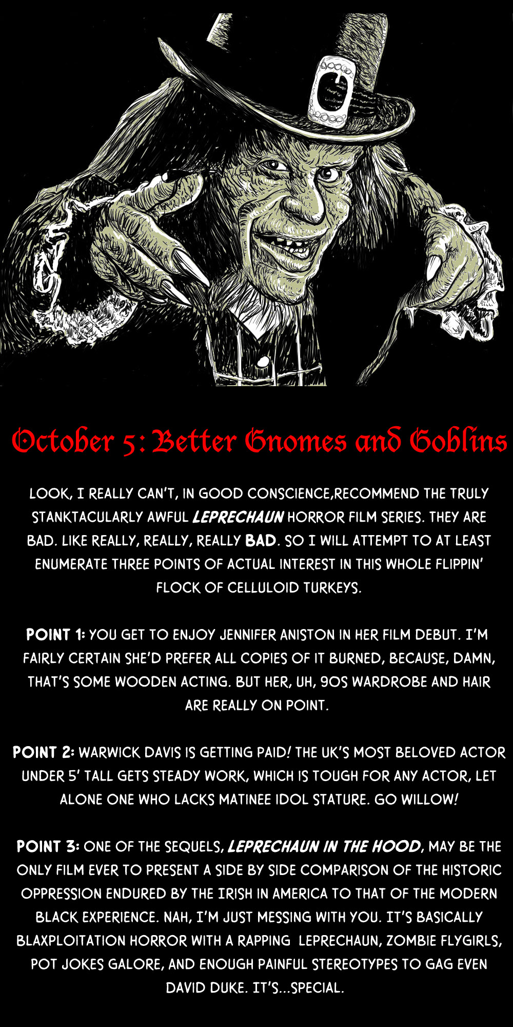 October 5: Better Gnomes and Goblins (and Leprechauns!)