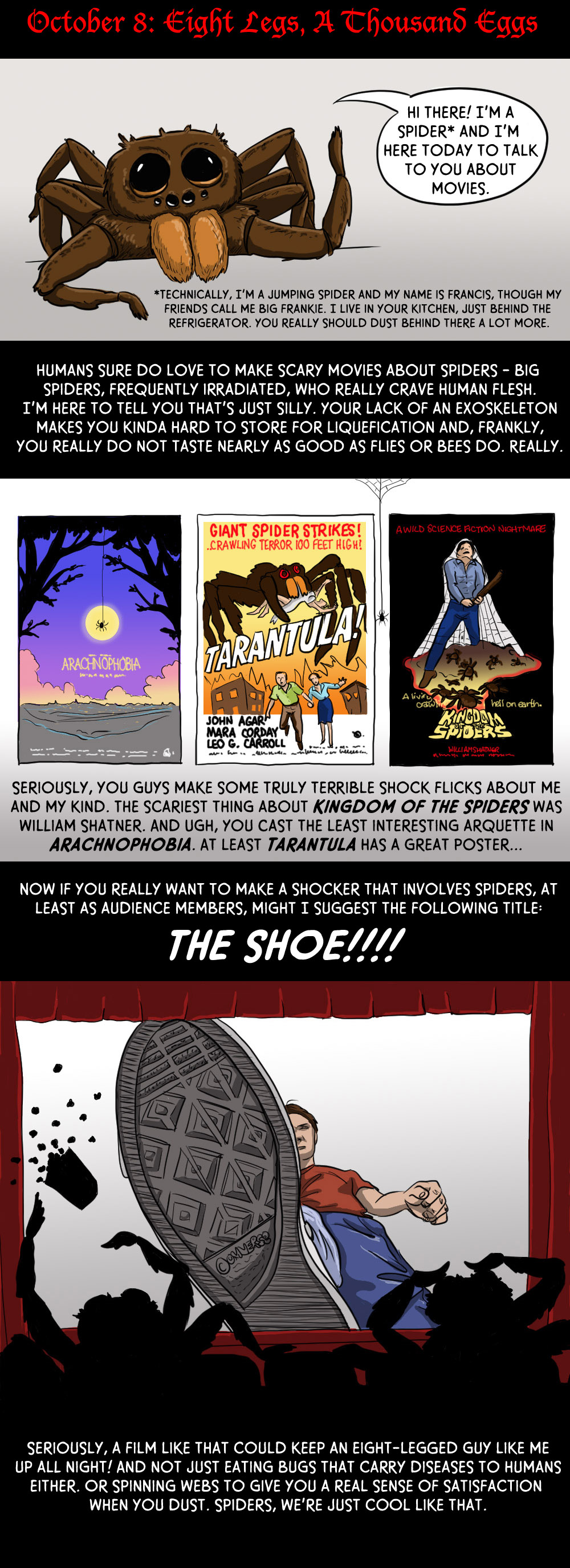 October 8: Eight Legs, A Thousand Eggs and One Comic by an Actual Spider