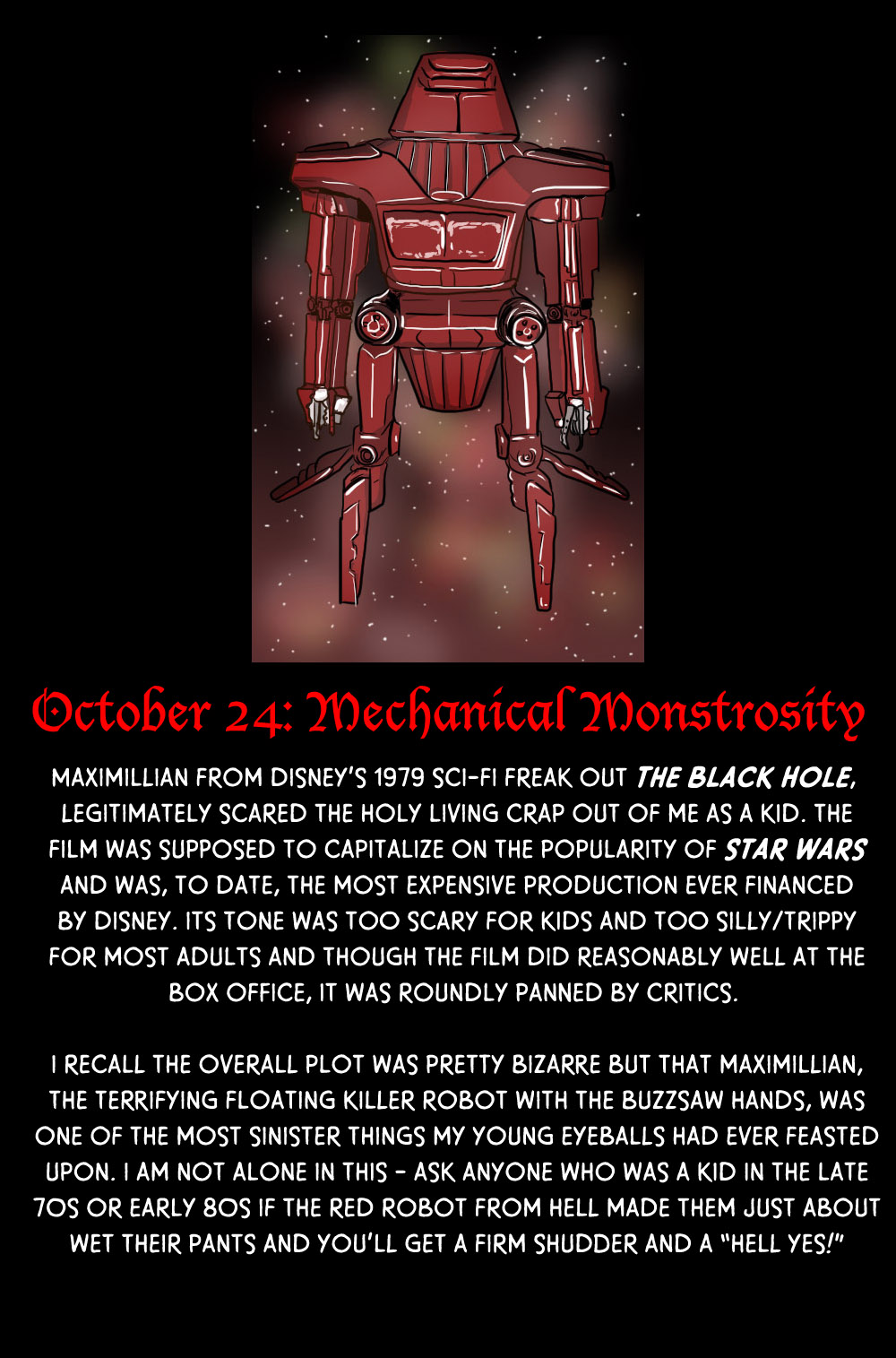 October 24: Mechanical Monstrosity (feat. Maximillian)