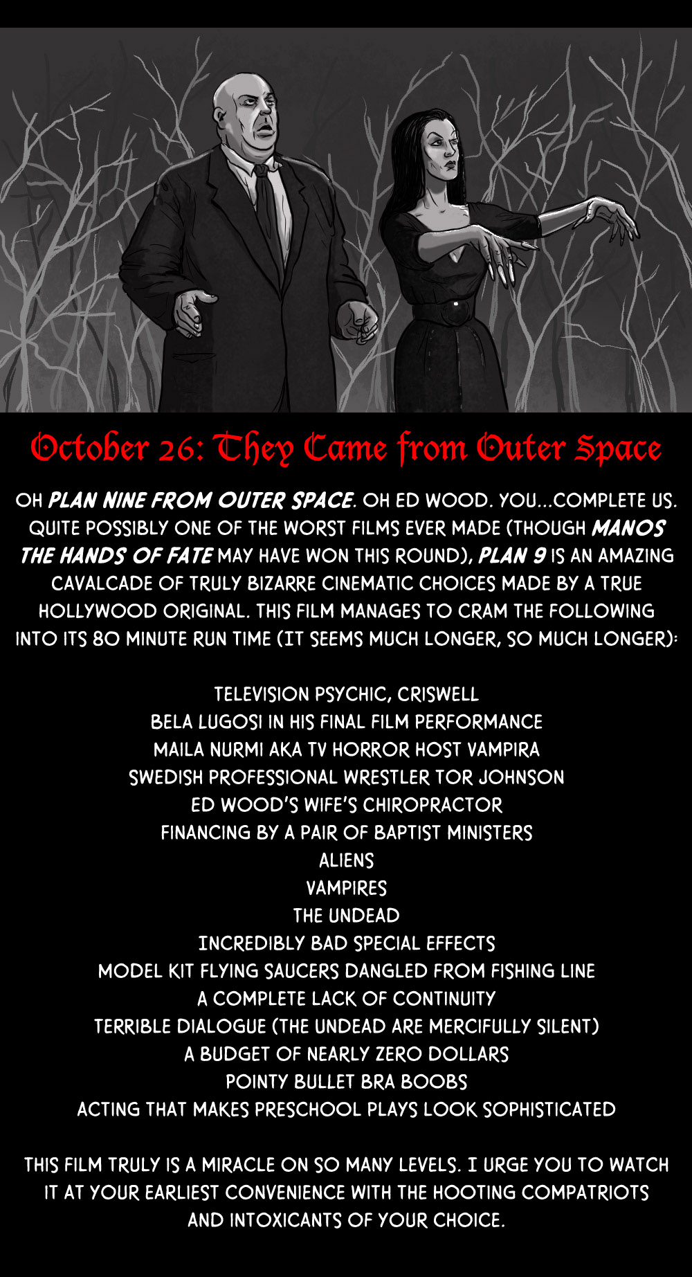 October 26: They Came from Outer Space (With a Plan 9)