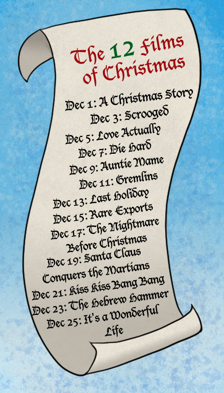 The Twelve Films of Christmas (and one about Hanukkah) Schedule