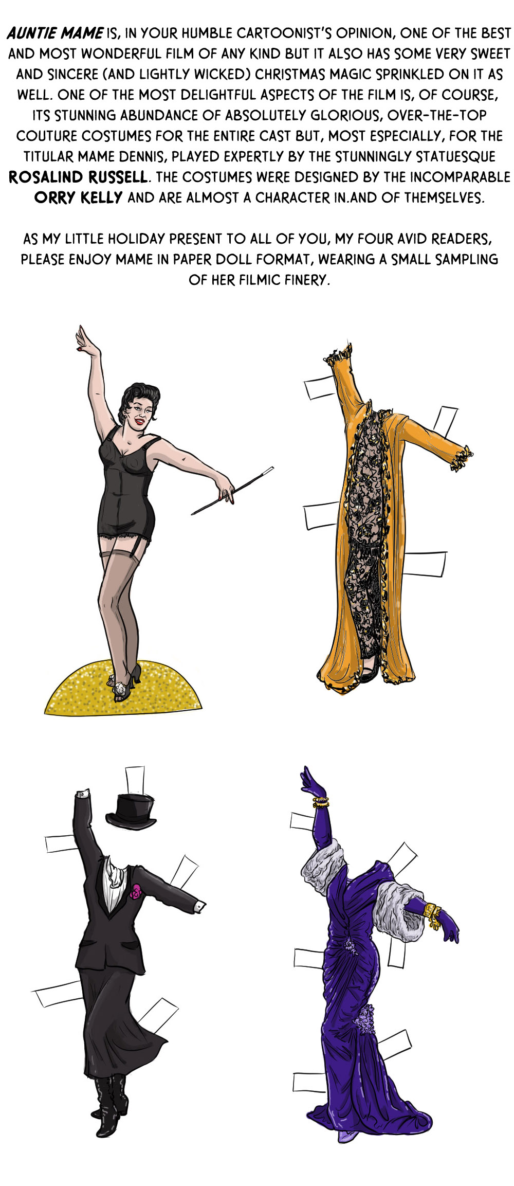 Day Five: Auntie Mame (in Paper Doll Form!)